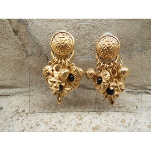 BO x6 clips fantaisie métal doré