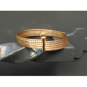 Bracelets joncs 5 rang (4 pièces)