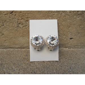 Boucles d'oreilles cabochon en cristal (lot de 4 pièces)