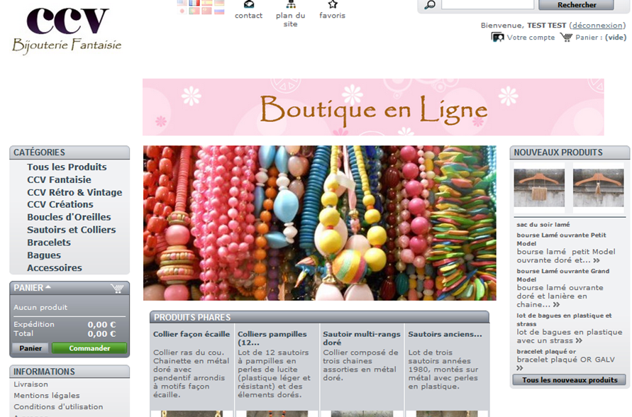 Screenshot e-shop CCV